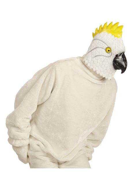 Bílá kakadu maska pro dospělé