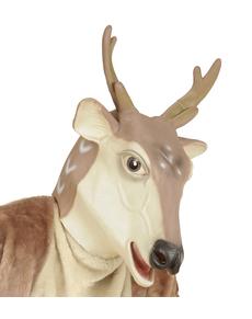 Máscara de reno navideño para adulto