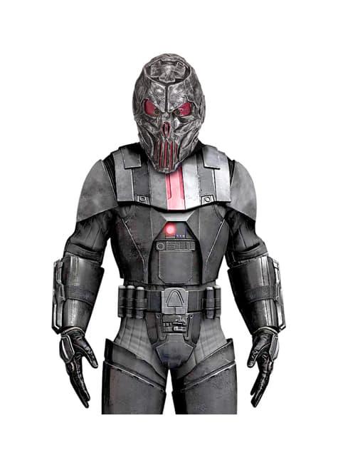 Máscara de space pedrator metálica para adulto - para tu disfraz