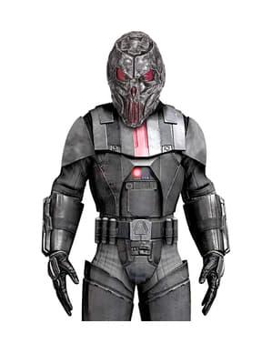 Mască space predator metalică pentru adult