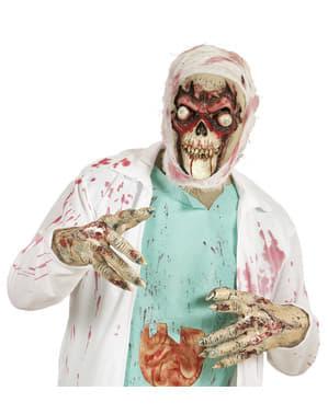 Máscara de calavera zombie de ojos saltones para adulto
