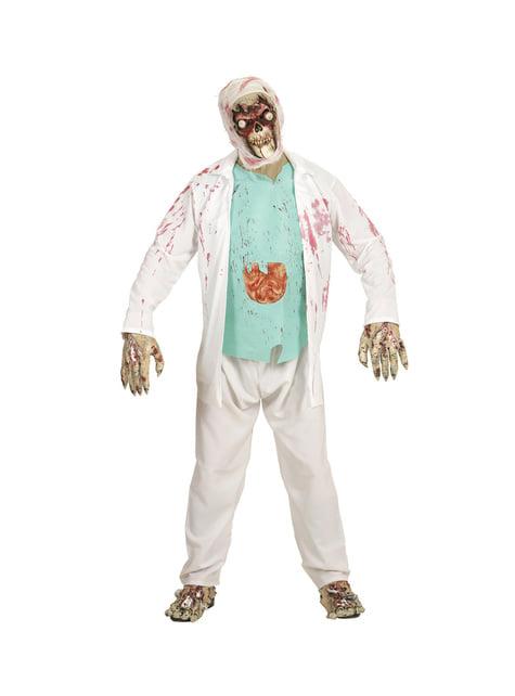 Adults' zombie skull with bulging eyes mask