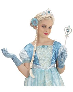 Tyttöjen Lumiprinsessa-asustesetti