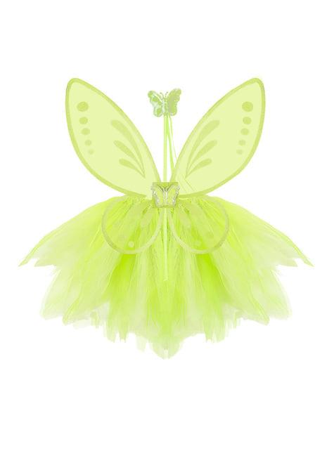Kit disfraz de hada verde para niña - niña