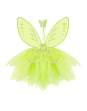 Kit costum de zână verde pentru fată