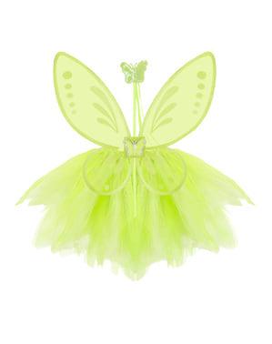зелен комплект приказен костюм Girls '