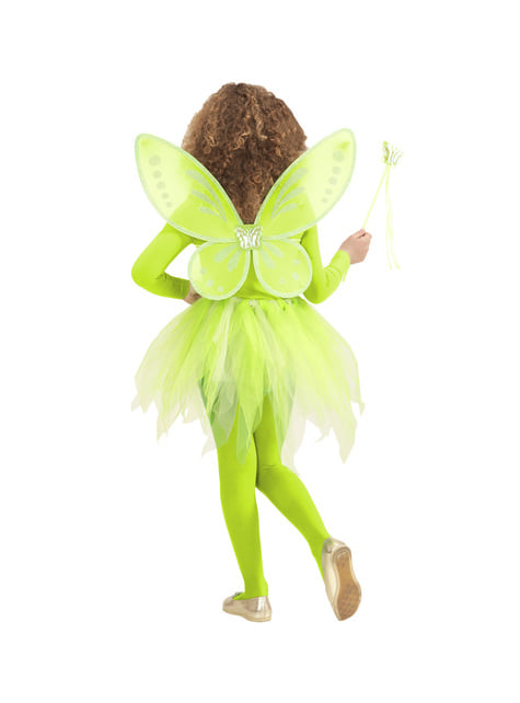 Kit disfraz de hada verde para niña - traje
