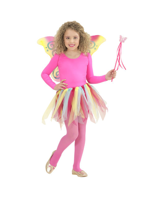 Alas de mariposa rosa con purpurina para niña - para tu disfraz