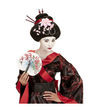 Women's geisha with flowers wig