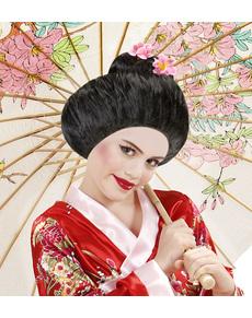 Peluca de geisha tradicional para mujer