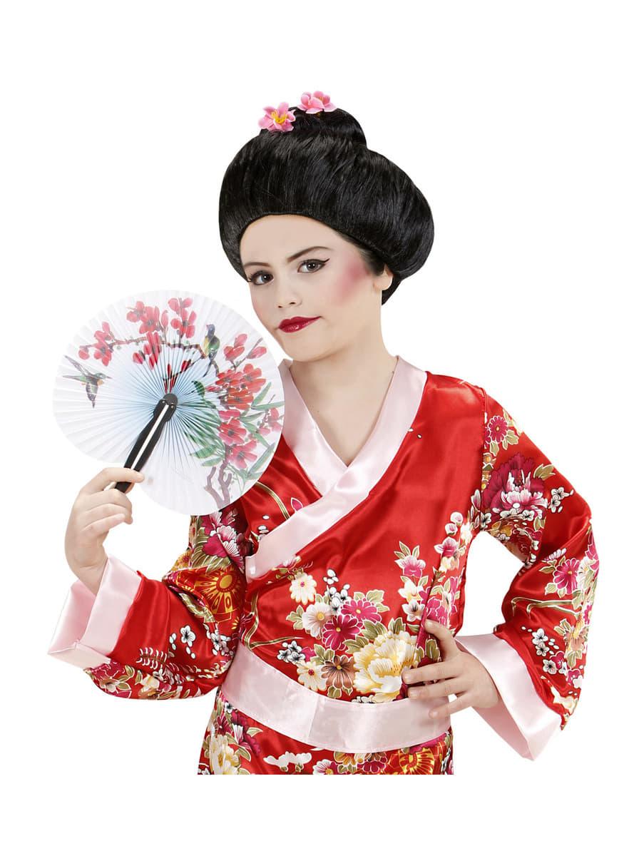 traditionelle geisha per cke f r damen f r kost m funidelia. Black Bedroom Furniture Sets. Home Design Ideas