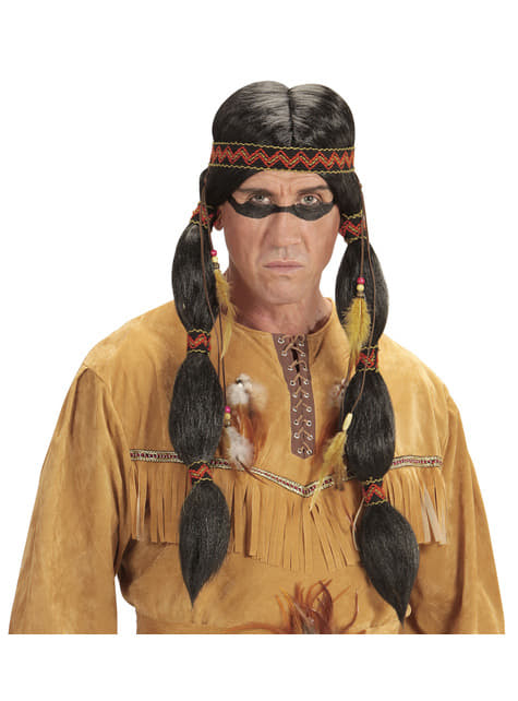 Adults' Sitting Bull Indian wig