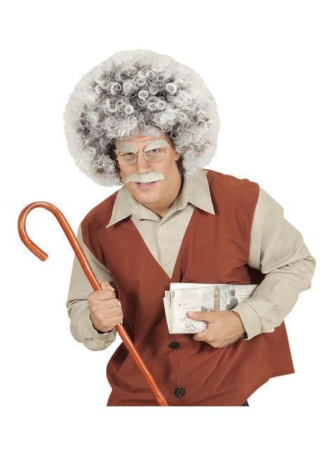 Peluca de científico Einstein para adulto - barato