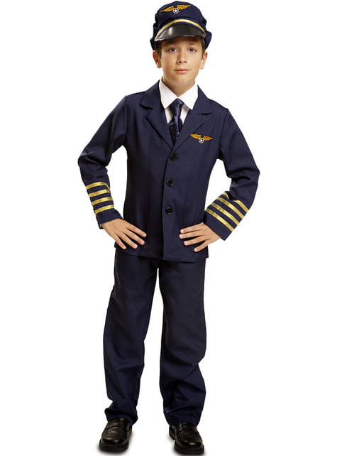 Blue pilot costume for a child