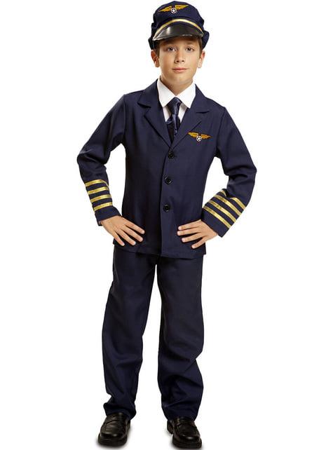 Kostium pilot samolotu niebieski dla chłopca