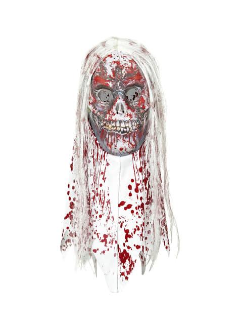 Máscara de zombie ensangrentado con pelo - para tu disfraz