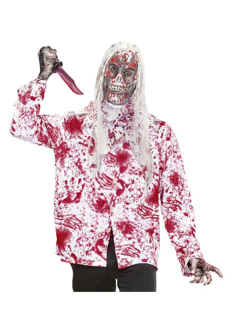 Máscara de zombie ensangrentado con pelo - original