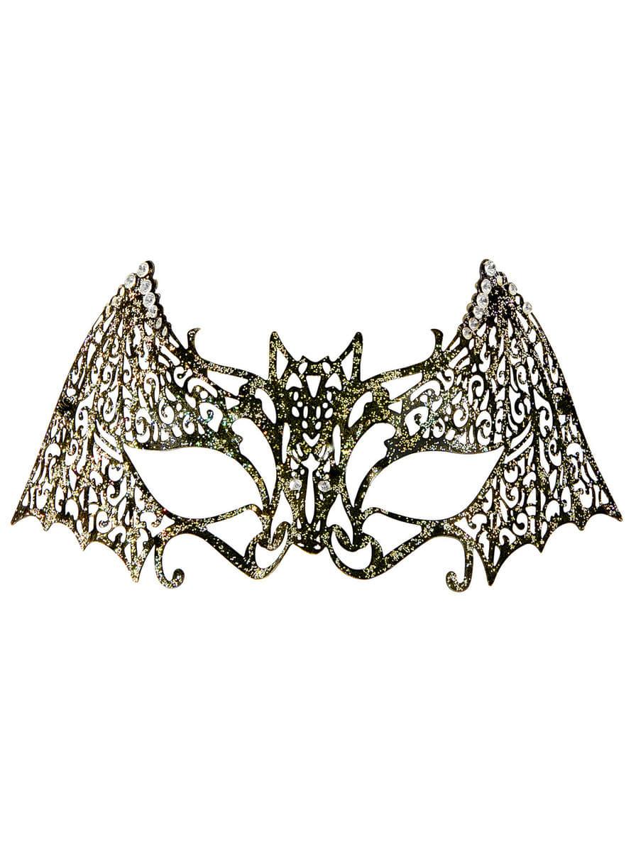 maske metallische fledermaus f r erwachsene f r kost m funidelia. Black Bedroom Furniture Sets. Home Design Ideas