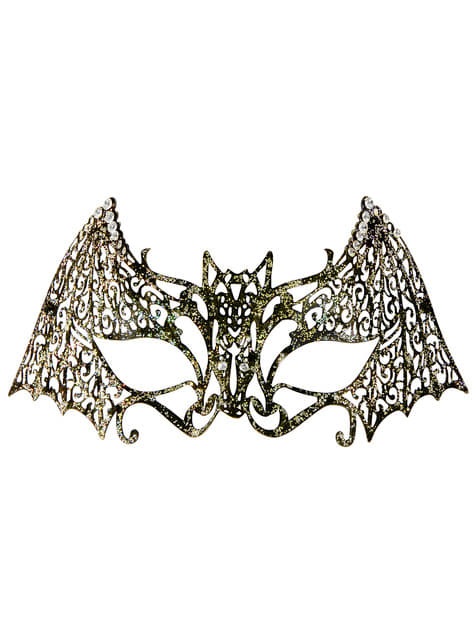 Antifaz de murciélago metálico para adulto