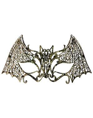 Metallic vleermuis oogmasker voor volwassenen