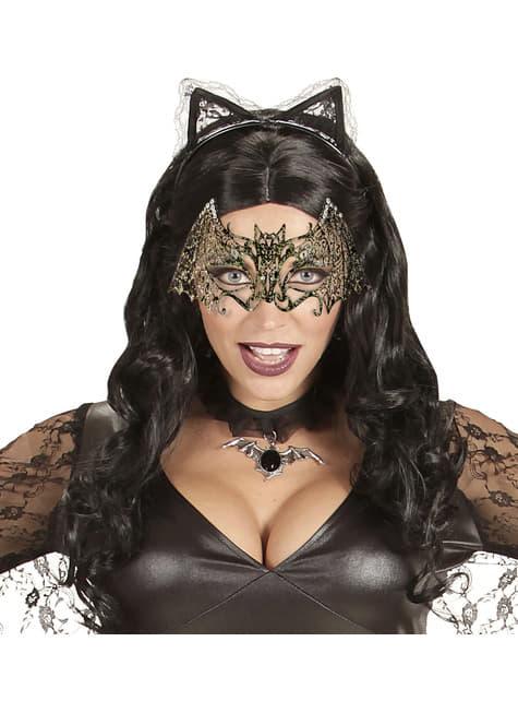 Antifaz de murciélago metálico para adulto - para tu disfraz