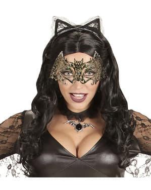 Maschera pipistrello metallico per adulto