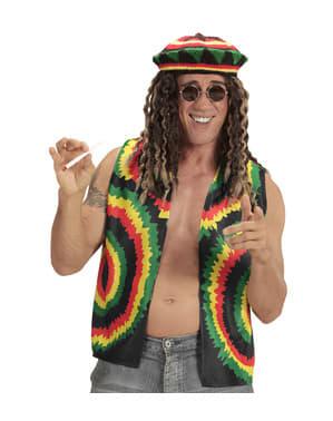Chaleco de rastafari jamaicano para adulto