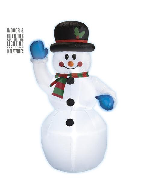 Figura decorativa de muñeco de nieve hinchable luminoso gigante