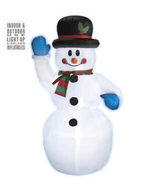 Büyük şişme kardan adam dekorasyon