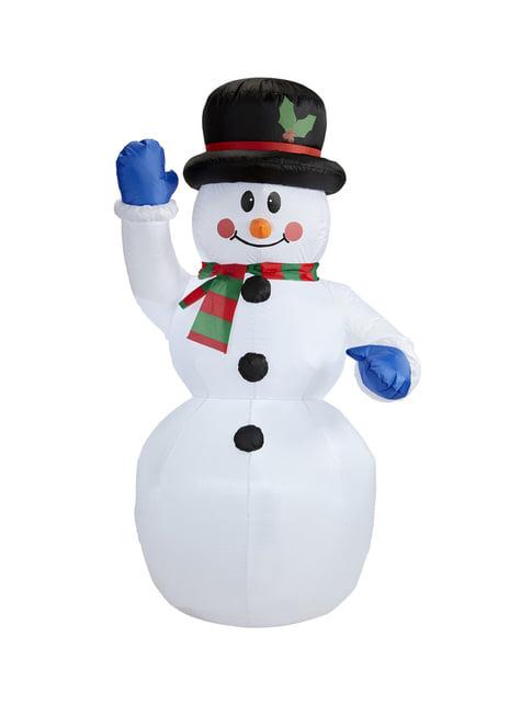 Figura decorativa de boneco de neve insuflável luminoso gigante