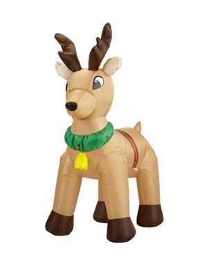 Giant luminous inflatable reindeer