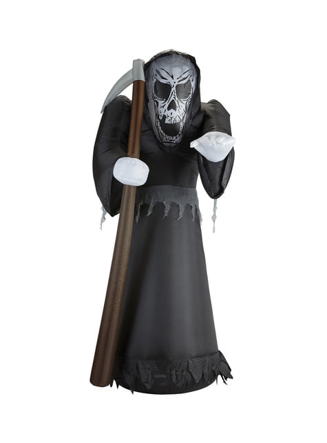 Figura decorativa de muerte hinchable luminosa gigante - para tus fiestas