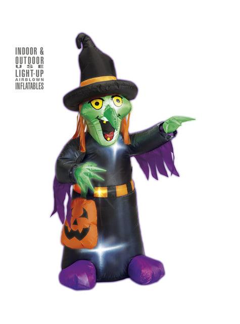 Figura decorativa de bruxa insuflável luminoso gigante