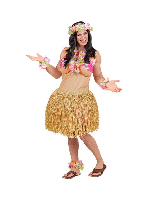 Disfraz de belleza hawaiana para hombre