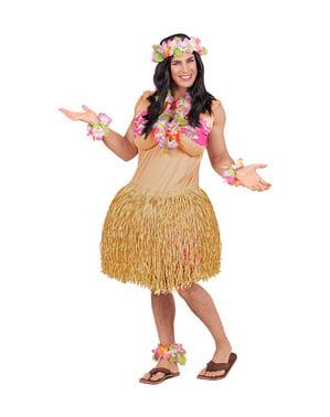 Disfraz de hawaiana para hombre