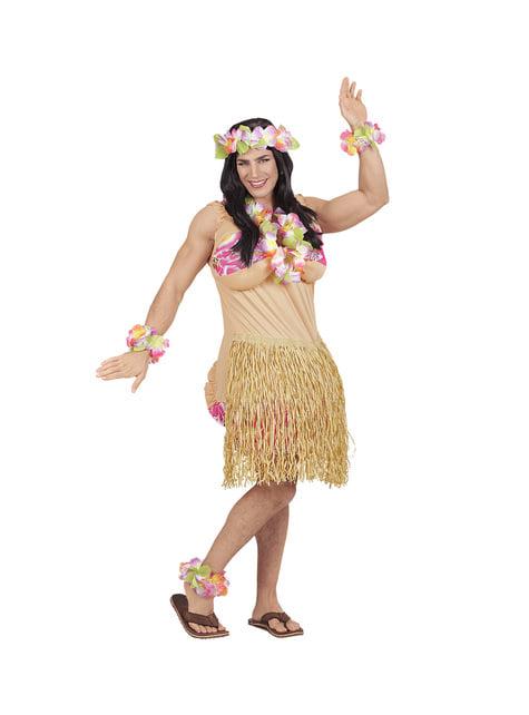Disfraz de belleza hawaiana para hombre - hombre