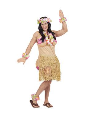 Disfarce de havaiana para homem