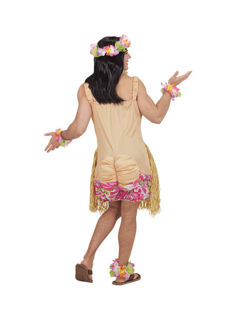 Disfraz de belleza hawaiana para hombre - original