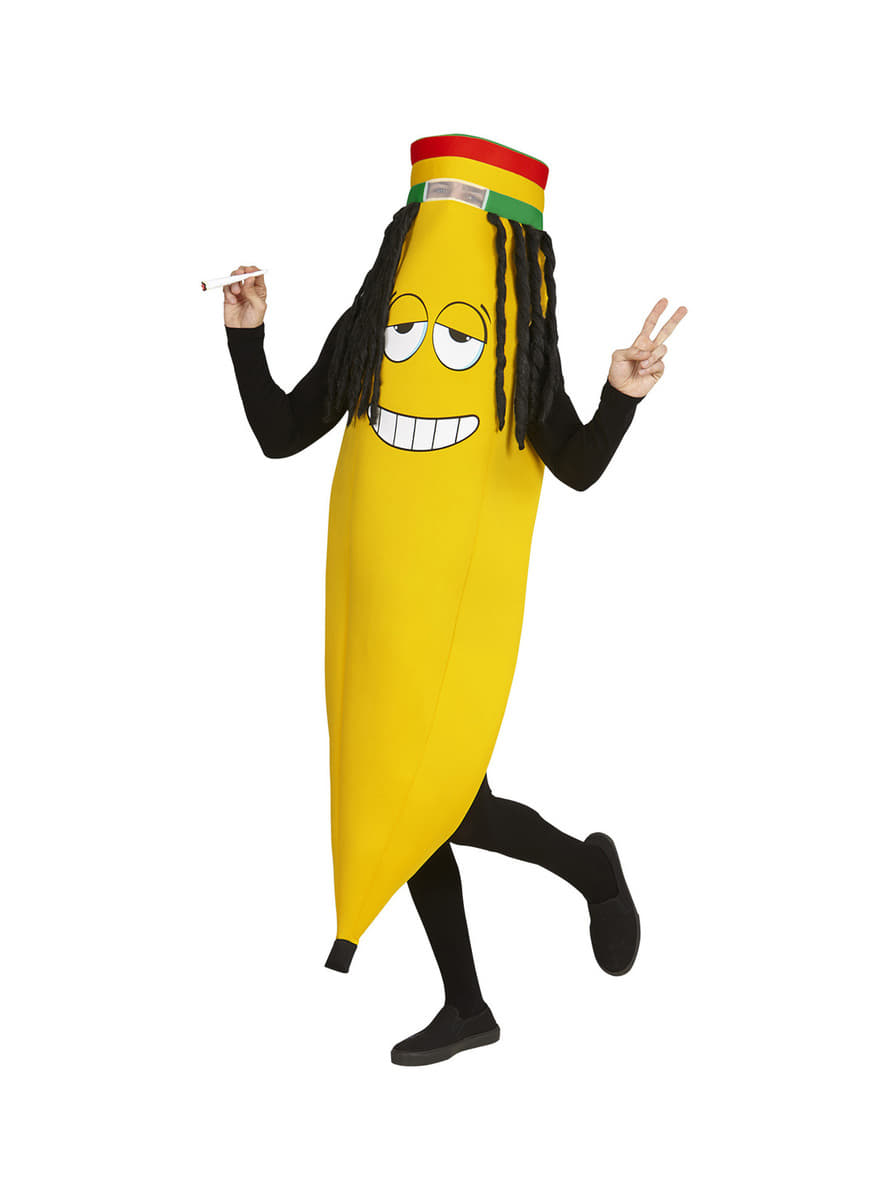 Adults Rastafarian Banana Costume The Coolest Funidelia