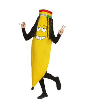 Disfraz de plátano rastafari para adulto