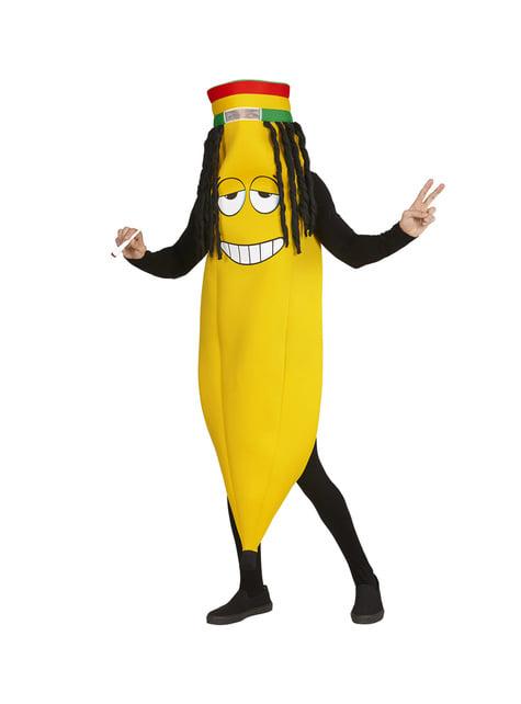 Fato de banana rastafari para adulto