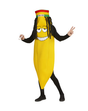 Adults' rastafarian banana costume