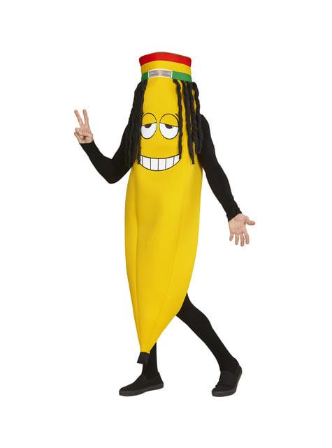 Disfraz de plátano rastafari para adulto - original