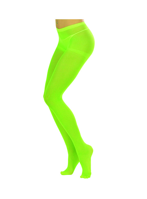 Collants verde fluorescente para mulher