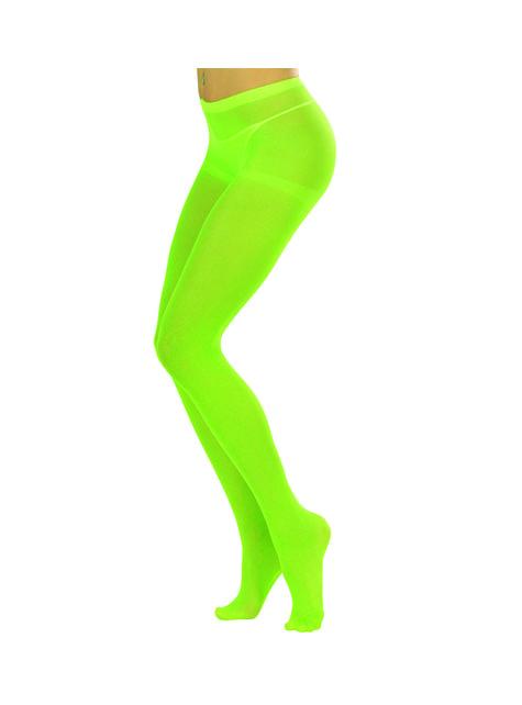 Pantys verde fluorescente para mujer
