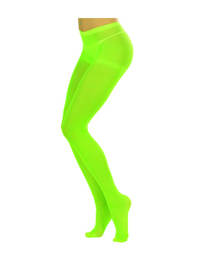 Women's florescent green tights