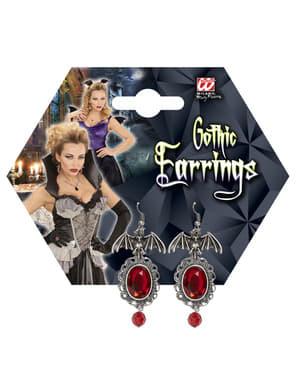 Women's bat earings with gems