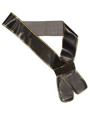 Læder-look sværd skærf