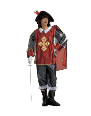 Stor elegant musketer plus size kostume til mænd