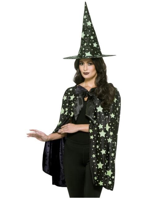 Nachtelijke heks kostuum set voor vrouw